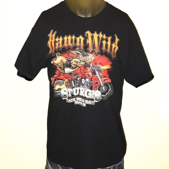 9c3b9466 Shirts   Hawg Wild Sturgis Black Hills Motorcycle Rally   Poshmark